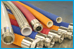 Hygienic Rubber Food Hose Assemblies - Smooth Bore FDA Approved Dairy and Food Hoses