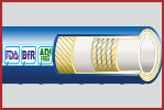 DairyFlex-SD Hygienic Rubber Food and Dairy Hose 10 Bar WP Smooth Cover