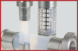 Hygienic Site Glass Hose Assemblies - PTFE or FEP Tube