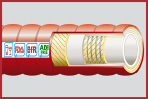 BrewFlex-Lite Hygienic Rubber Beer + Wine Hose 10 Bar WP Corrugated Cover