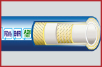 DairyFlex-Crush Hygienic Rubber Food and Dairy Hose 10 Bar WP Smooth Cover