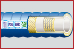 DairyFlex-Lite Hygienic Rubber Food and Dairy Hose 10 Bar WP Corrugated Cover